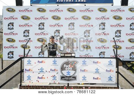 Dover, DE - Jun 01, 2014:  Jimmie Johnson (48) wins the FedEx 400 at Dover International Speedway in Dover, DE.