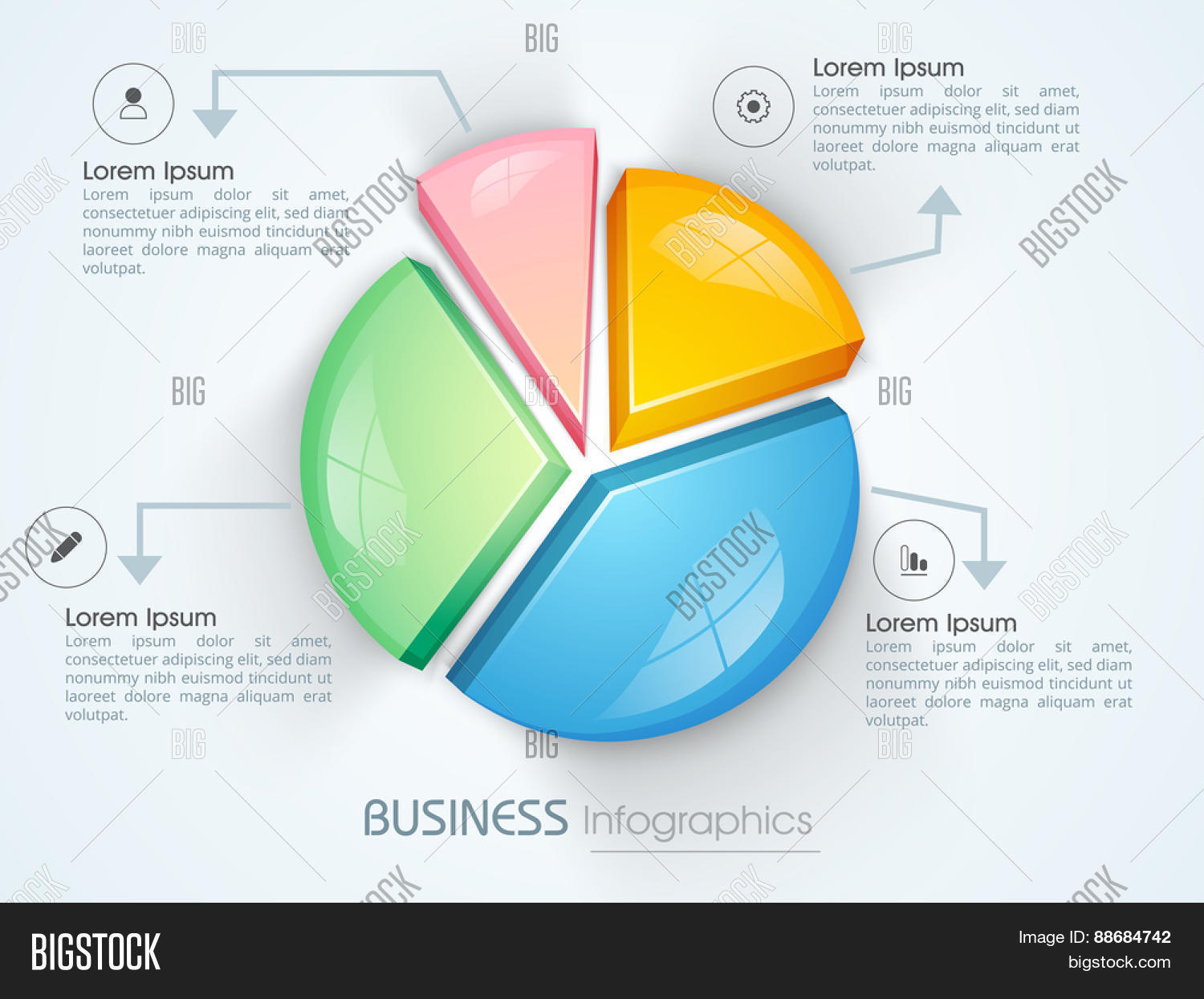 Colorful 3d pie chart infographic vector photo bigstock colorful 3d pie chart infographic for your business reports and financial growth presentation nvjuhfo Choice Image
