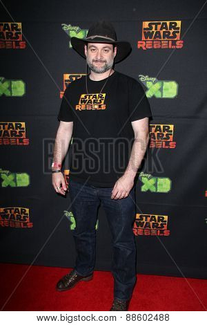 LOS ANGELES - FEB 18:  Dave Filoni at the Global Premiere of