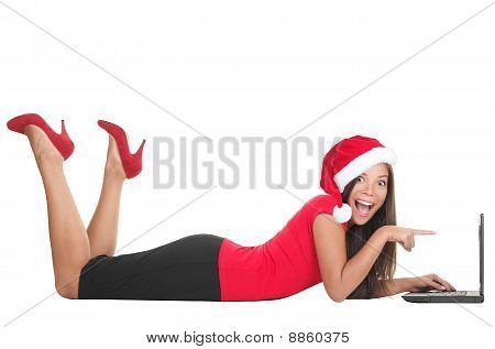 Christmas Internet Shopping Woman