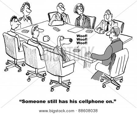 Cellphone On In Meeting