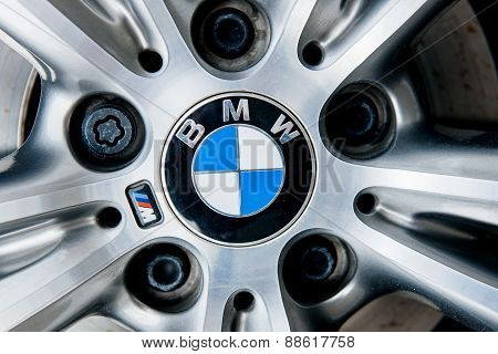 Alloy Wheel With Bmw Insignia Logo