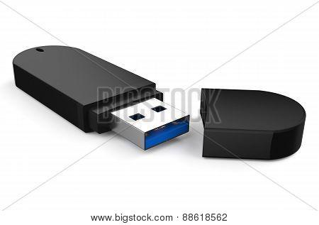 Black Usb Flash Drive Ss 3.0