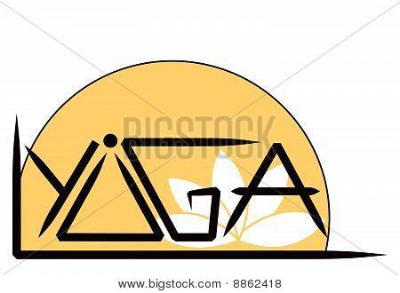Vectorized yoga symbol