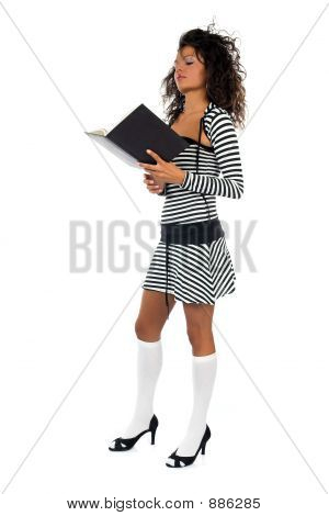 Beautiful Young Curly School Girl