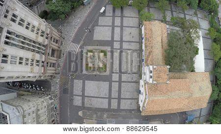 Aerial View of Patio do Colegio in Sao Paulo , Brazil