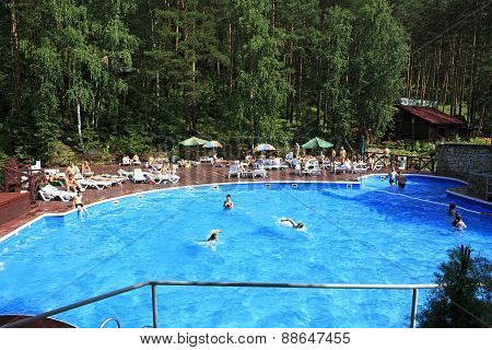 Swimming pool in the Sanatorium Russia