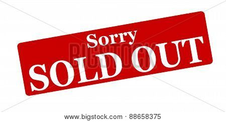 Rubber stamp with text sorry sold out inside vector illustration