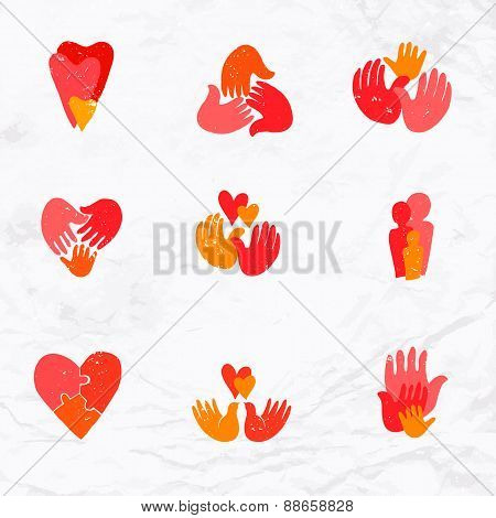 set of family logos