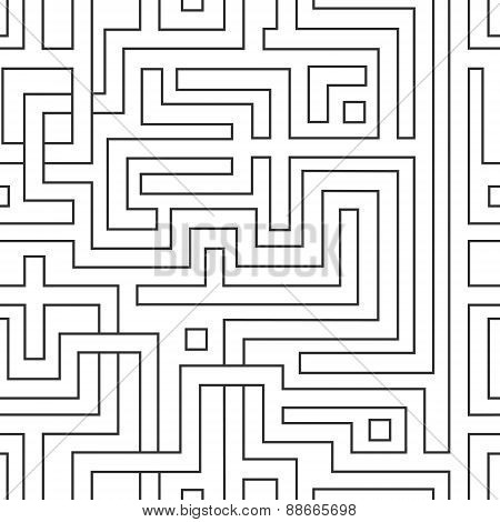 Abstract Seamless Pattern Resembling A Maze.