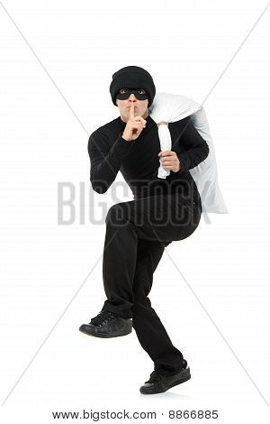 Criminal Running Away Carrying A Bag