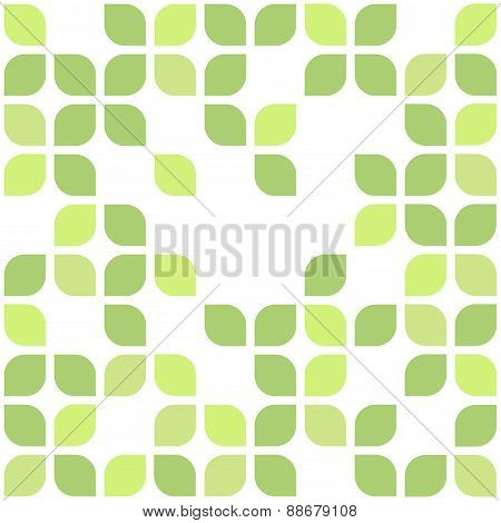 Spring ornamental floral seamless green background