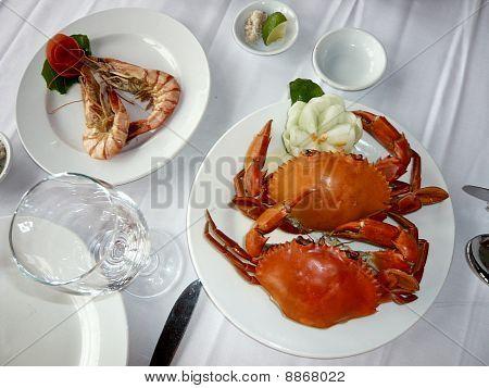 Fresh Shrimp and Crab