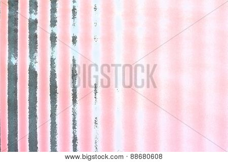 pale pink striped background with gray strips of an abstract form poster