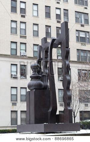 Statue In In Park Av