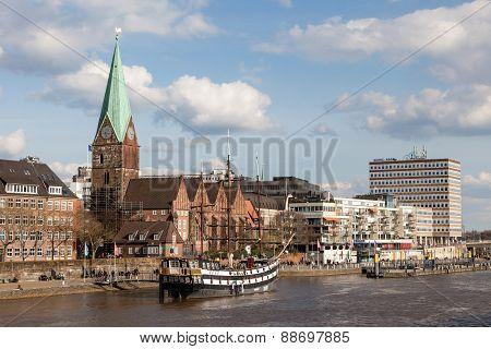 Skyline of Bremen, Germany