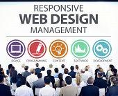Responsive Web Design Management Programming Concept poster