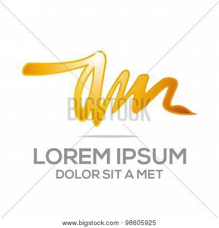 Business Creative Letter AM Company logo Design Icon
