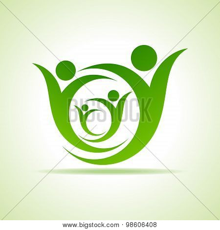 Eco people celebration icon design vector