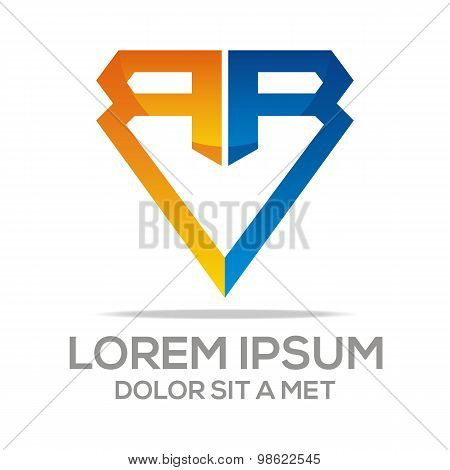Logo letter r abstract vector