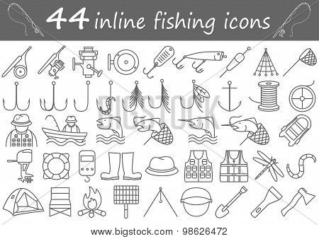 fishing Inline Icons