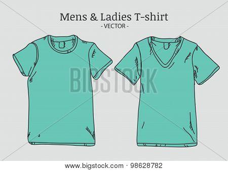 Vector T-Shirt Mockups Illustration