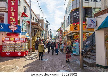 The Street At Shinjuku Area In Tokyo, Japan