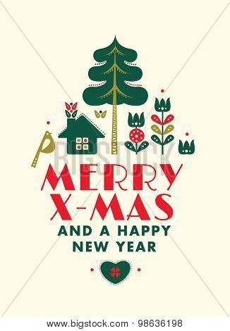 Danish Style Christmas Card