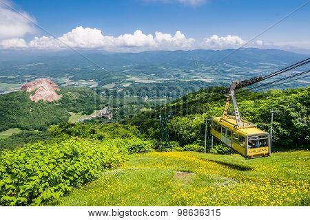 Ropeway To Mount Usu Summit, Hokkaido, Japan