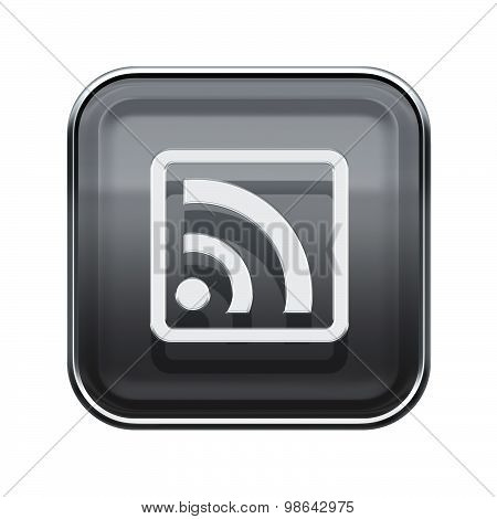 Wi-fi Icon Glossy Grey, Isolated On White Background