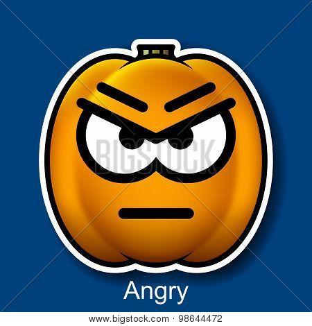 Vector Halloween Smiley Angry