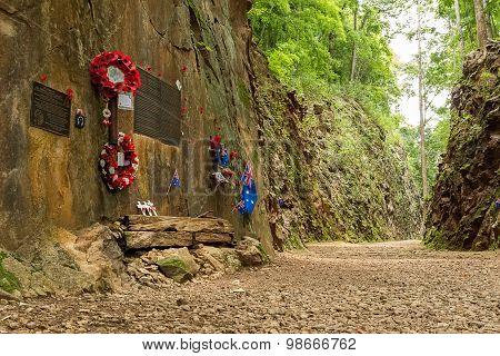 Hellfire Pass At Kanchanaburi, Thailand.