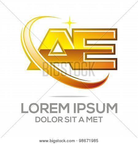 Logo letter ae alphabet vector