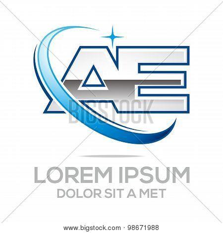 Logo letter ea alphabet vector