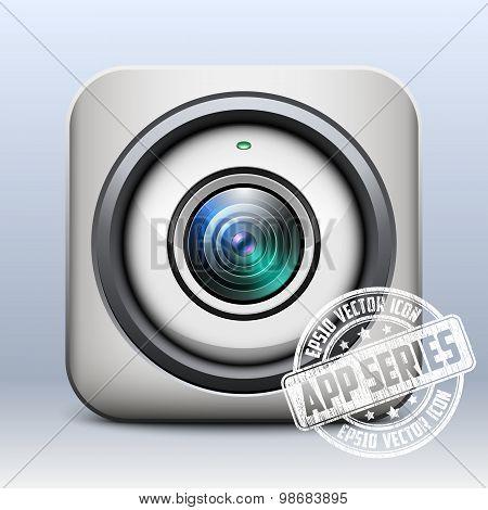 Web Camera Icon. App Series