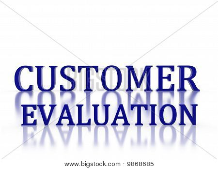 3D Letters Spelling Customer Evaluation In Dark Blue