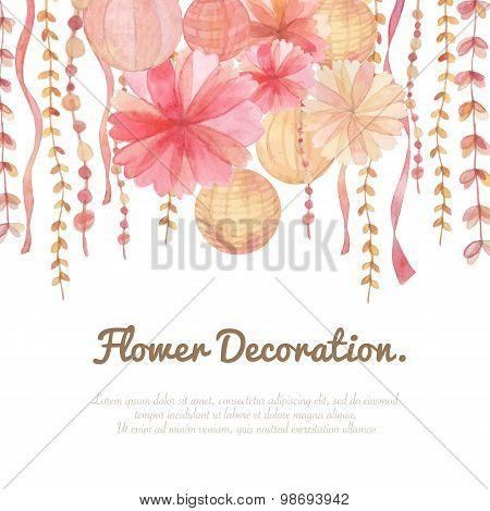 Flower Decoration Background