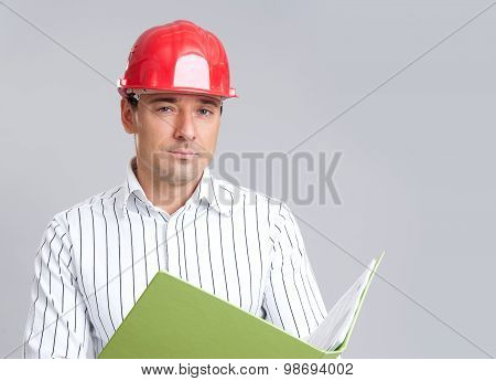 Onstruction Engineer In Hard Hat