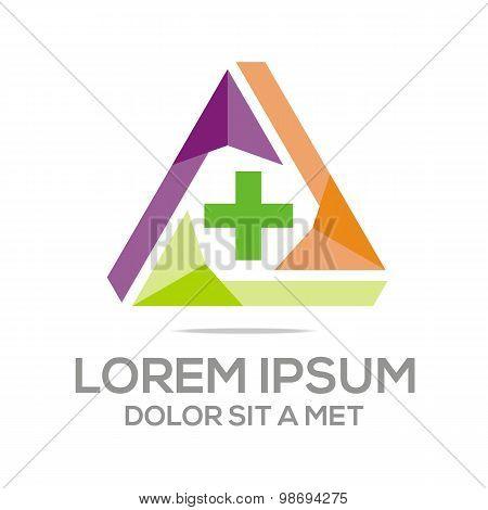 Logo pharmacy medical plus healthy care medicine vector