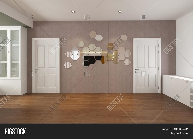 Modern Empty Room 3d Image Photo Free Trial Bigstock