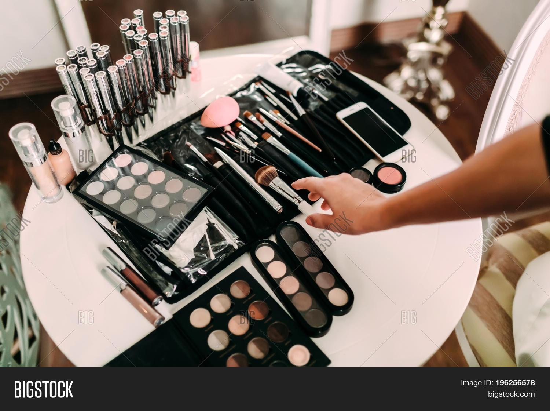 Hands Makeup Artist Image Photo
