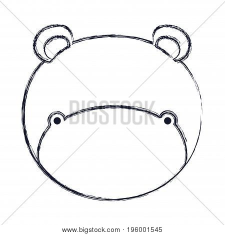 faceless of hippo animal vector illustration