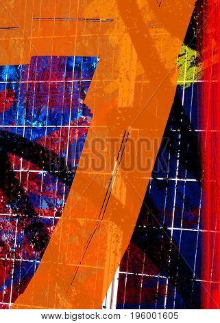 Seven. Seven background. Number background. Abstract image of a number seven. Abstract background. Art. Artwork. Seven style. Seven design.