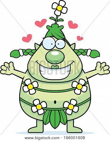 Cartoon Forest Sprite Hug