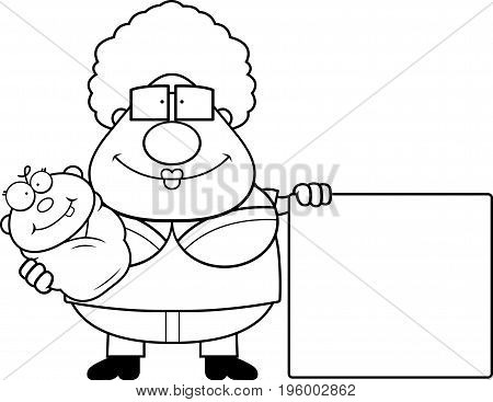 Cartoon Grandma Baby And Sign
