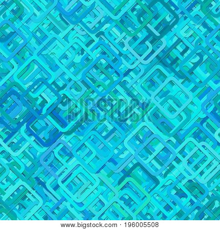 Seamless geometric diagonal square background pattern - vector graphic from light blue rounded squares with shadow effect