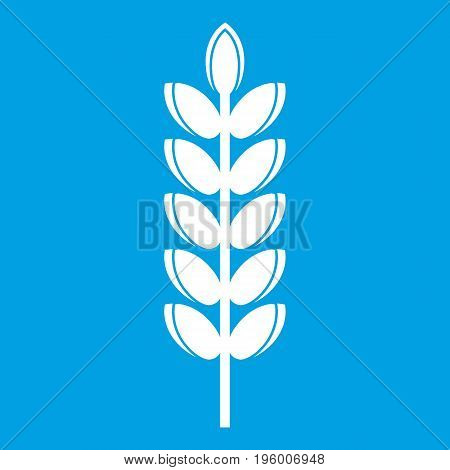 Big grain spike icon white isolated on blue background vector illustration