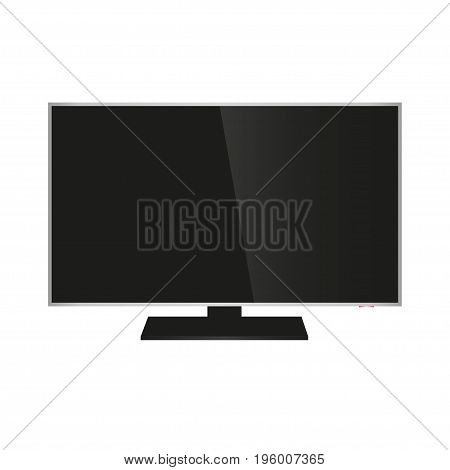 Realistic TV isolated on white background on a white background