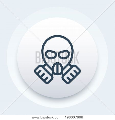 gas mask icon in linear style, eps 10 file, easy to edit