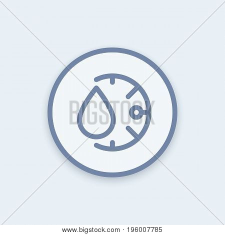 humidity icon in linear style, round pictogram, eps 10 file, easy to edit